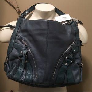 teal genuine leather etienne aigner handbag